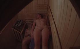 VOYEUR Two Tight Pussies in Sauna