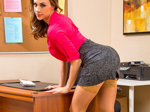 Chanel Preston ass fucked in the office