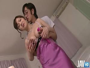 Ichika Asagiri in black and pink lingerie