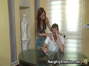 Paris consoles her friend`s husband with some sympathy sex