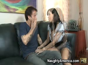 Veronica Rayne fucks her son`s best friend to show him how a real woman gets dirty.