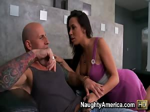 Rachel Starr moves her ass like a champ on this hard cock