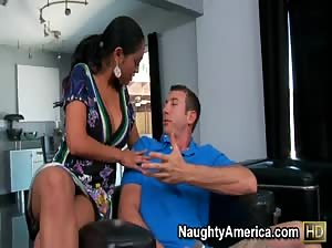 Priya gets fucked on the granite countertop.