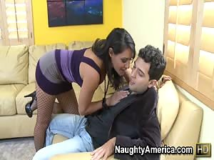 Busty babe Charley Chase cums hard