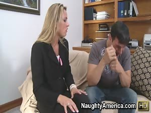 Amanda Blow takes a big cock deep in her pussy