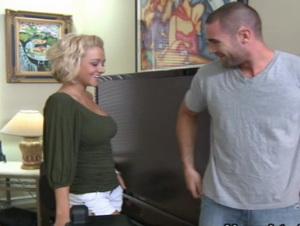 Gorgeous blonde Briana Blair loves the cock