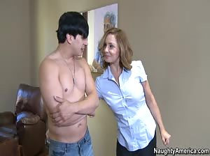 Sexy Mom fucks a friend of her son`s