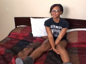 Black College Student in Her 1st Amateur Video