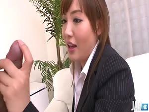 Aika Hoshino sucks and fucks a hard dick