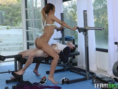Real hard workout for hot teen Demi Lopez