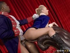 Kinky Katie Morgan banged balls deep by BBC on stage