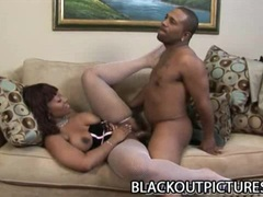 Sexy Big Ass Ebony Meets Big Cock Guy