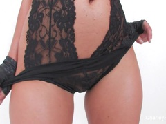 Charley Chase Teases Wearing Black Lingerie