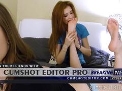 Two Webcam Teens Foot Worship