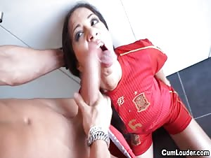 Naughty Julia de Lucia meets a huge Cock